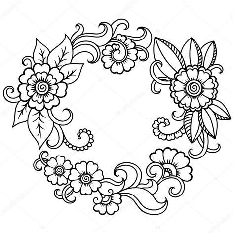 henna tattoo logo st 237 lus mehndi henna tetov 225 l 225 s vir 225 g sablon stock vektor