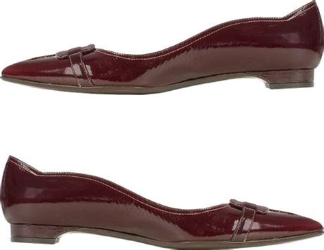 burgundy flat shoes forzieri burgundy patent leather ballerina flat shoes in
