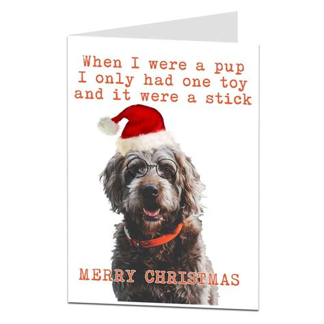 funny dog christmas card     pup lima lima cards gifts