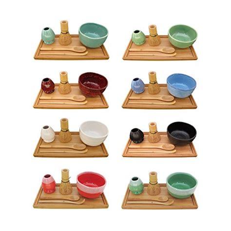 1set And Spoon Desert bamboomn brand matcha bowl set includes bowl rest tea whisk chasaku tea spoon tray 1