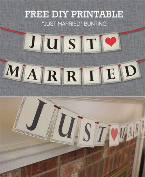 married bunting  printable wedding