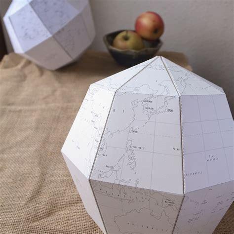 How To Make Paper Globe - le paper globe a diy paper terrestrial globe