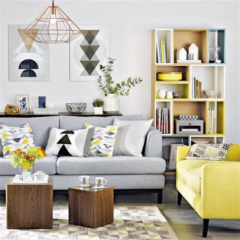 Living Room Design Grey Yellow 29 Stylish Grey And Yellow Living Room D 233 Cor Ideas Digsdigs