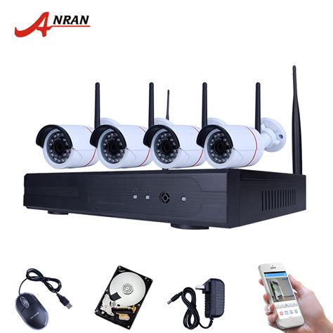 Wireless Nvr Kit 130w Hd 4ch With 4 Cctv 960p 160513 Diskon 1 new listing anran and play wireless nvr kit p2p 720p hd outdoor ir vision security ip