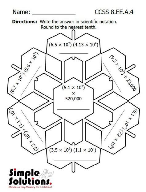 Scientific Notation Worksheet 8th Grade
