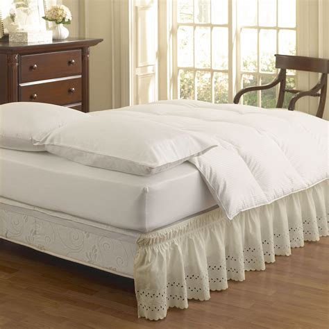 bed skirt easy fit wrap around eyelet ruffled bedskirt