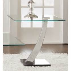 sofa side table glass end modern small spaces entryway