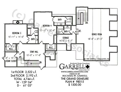 grand homes floor plans grand demeure house plan house plans by garrell