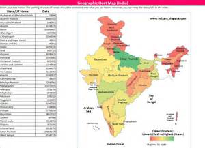 geographic heat map india excel template indzara