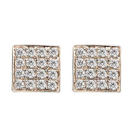 in diamond square a 0 14ct f i1 diamond square shaped stud earrings in 18k gold