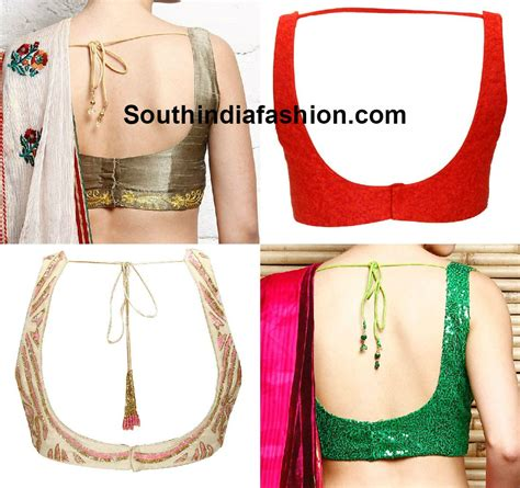Blouse Neck Designs South India Fashion Neck Back Designs For