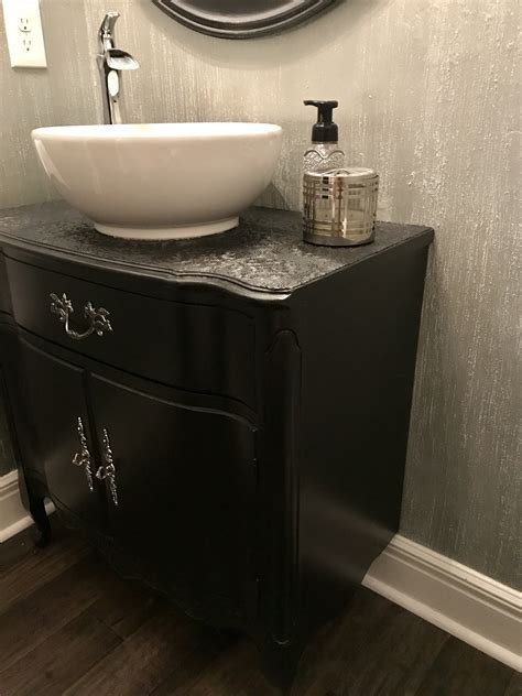 how to make an old dresser into a vanity cabinet