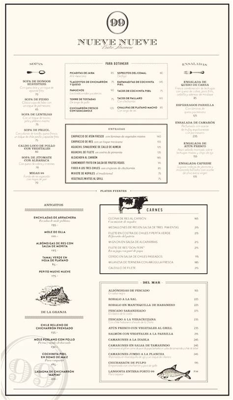 layout design of menu mexico city mexico and menu design on pinterest