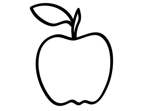 apple clipart coloring page apple for pages clipart