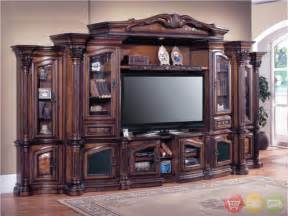 Aspen Oak Bedroom Furniture Cortina Traditional Wall Unit Large Tv Entertainment