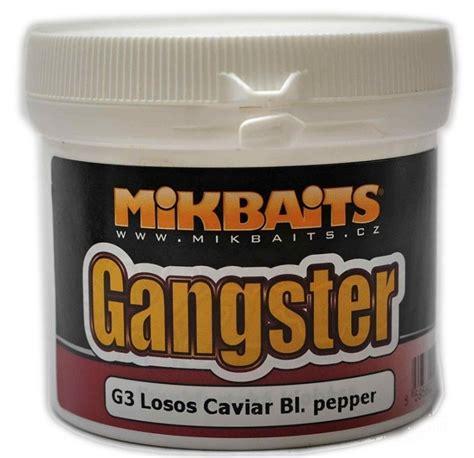 black testo mikbaits gangster těsto 200g g3 losos caviar black