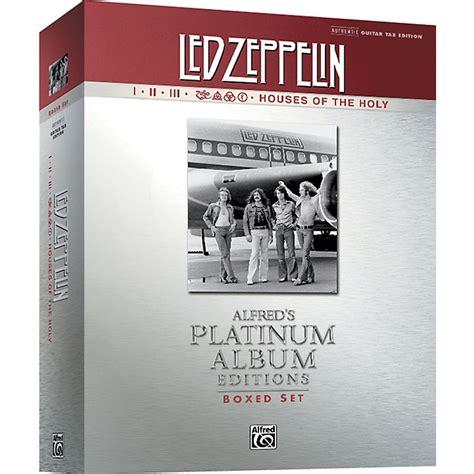 biography of led zeppelin book alfred led zeppelin box set i v guitar tab platinum