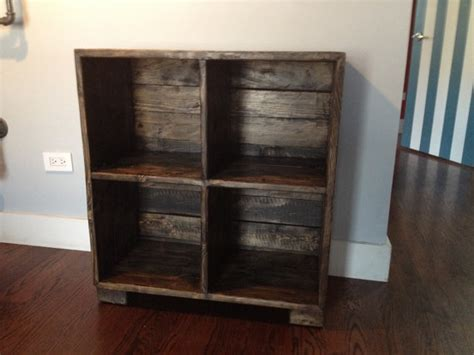 reclaimed media lp records cabinet