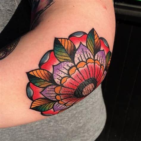 flower tattoo inside elbow elbow tattoos askideas com
