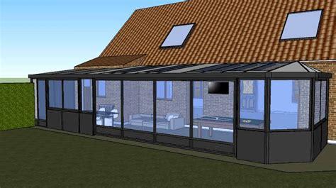 veranda en 3d ebm menuiserie - Veranda 3d