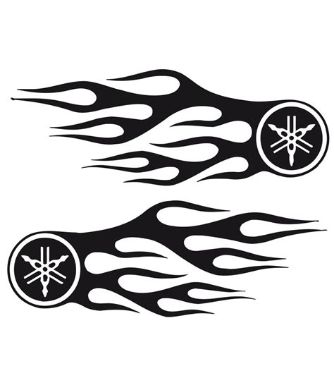 Fahrrad Aufkleber Flammen by Bike Chopper Gas Tank Flames Tribal Vinyl Decal Sticker