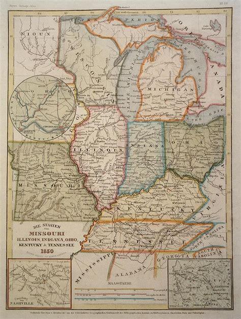 map missouri and illinois quot missouri illinois indiana ohio kentucky and tennessee