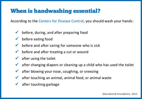 printable handwashing quiz germ discussion starters educational innovations blog