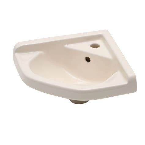 bisque bathroom sink elizabethan classics english turn corner wall mounted