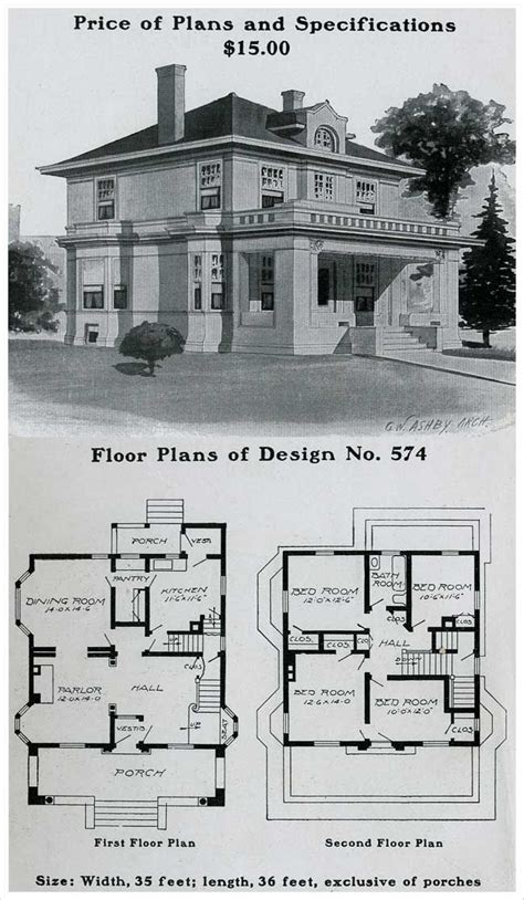 House Floor Plans With Pictures 1903 Radford American Home No 574 House Plans