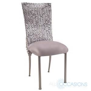 cover chairs chameleon chair chagne fanfare silver punchout chair cover silver stretch knit cushion all