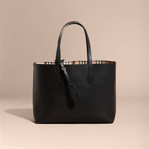 Burberry Tote by The Medium Reversible Tote In Haymarket Check And Leather