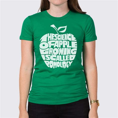 Tshirt S W A T the science of apple growing womens t shirt the fact shop