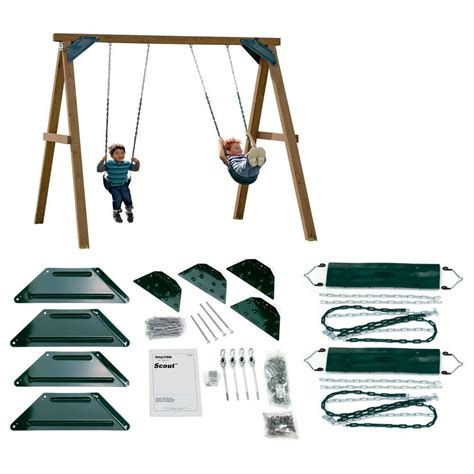 home depot swing set kits swing n slide playsets do it yourself one hour custom play