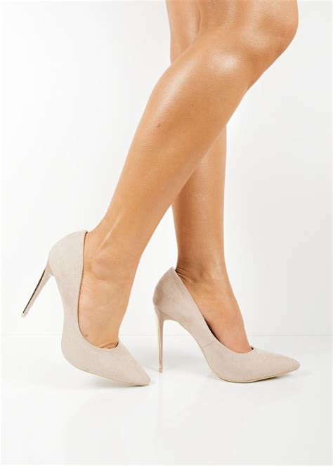 high heels beige e30 beige pointed toe high heels