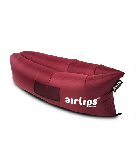 air sofa review airlips lounger inflatable air sofa red wine airlips