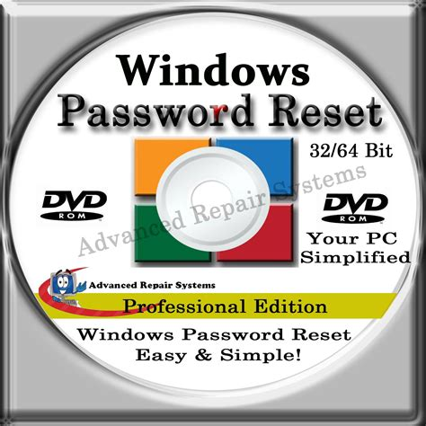 reset windows vista password with reset disk computer password reset recovery boot password reset cd