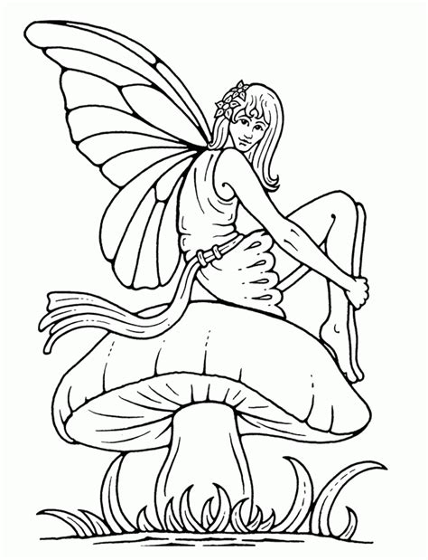 fairy coloring pages coloringpagesabc com