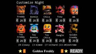 Five nights freddies 2 10 20 cleared rewards youtube