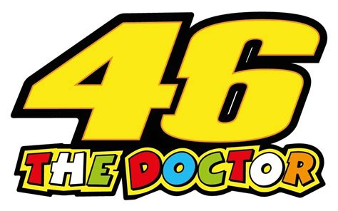 Sticker Vinyl The Doctor valentino 46 the doctor vinyl sticker decals 150 x 90 mm ebay