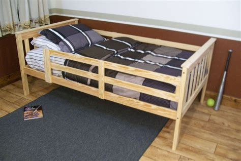 twin bed with rails platform bed with guard rail versa style twin or full size