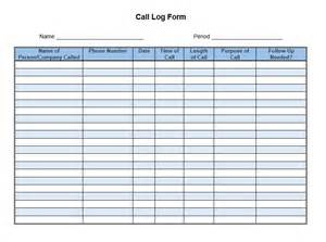 Call Log Template by Sales Call List Templates 5 Free Templates Format