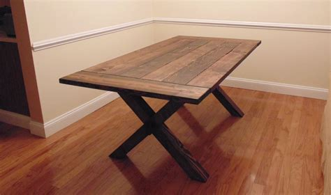 diy table with cross legs custom crossed leg trestle style farmhouse table by