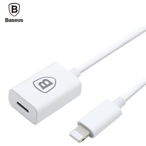 lightning charger extension baseus 8 pin to extender adapter charger for