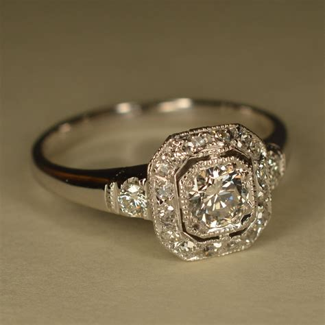 deco inspired rings reserved deco inspired wedding ring platinum and 14k