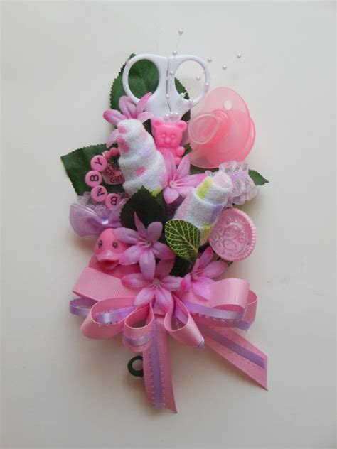 baby shower corsage baby washcloth corsage