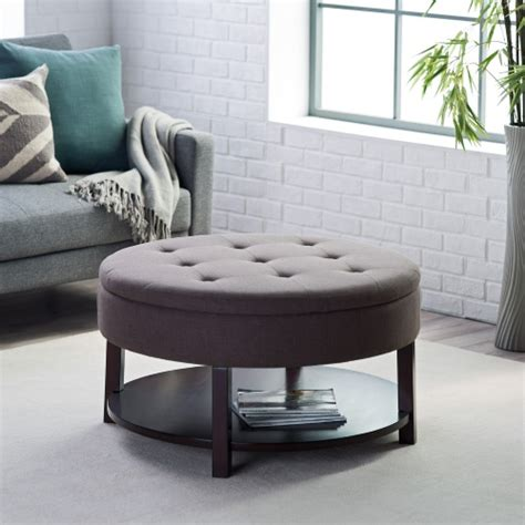 tufted storage ottoman coffee table belham living dalton coffee table tufted storage