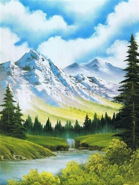bob ross painting mountain retreat do a bob ross painting bobs bob
