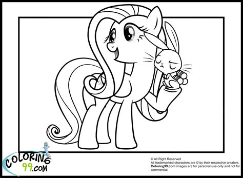 my little pony fluttershy coloring pages team colors