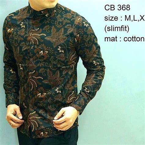 Kemeja Batik Batik Pria Slim Fit Kemeja Slim Fit D306 jual beli kemeja batik slim fit batik pria slimfit