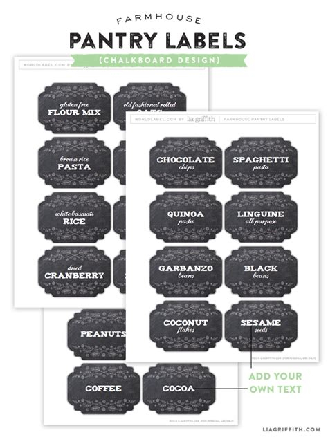 chalkboard spice label emakesolutions com farmhouse pantry labels for you to edit and print